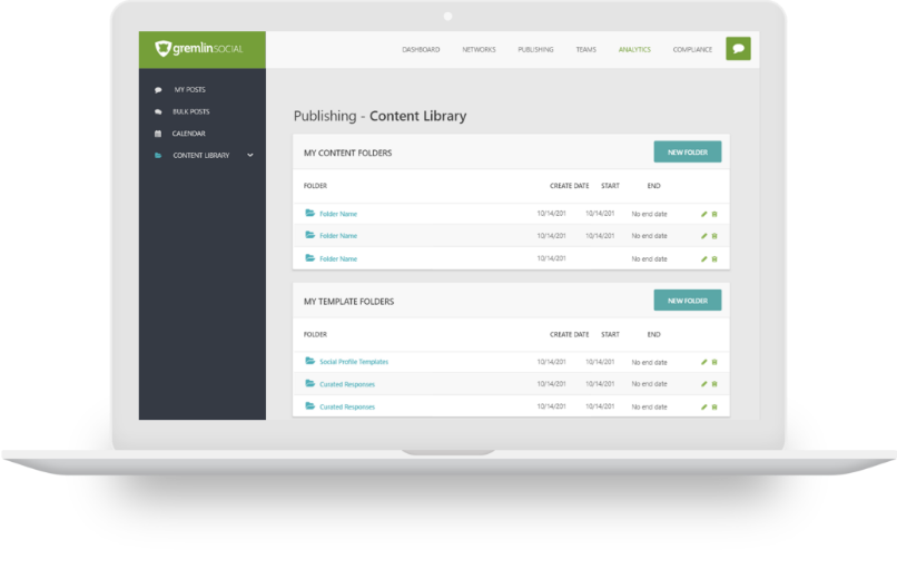 Content Library Screen